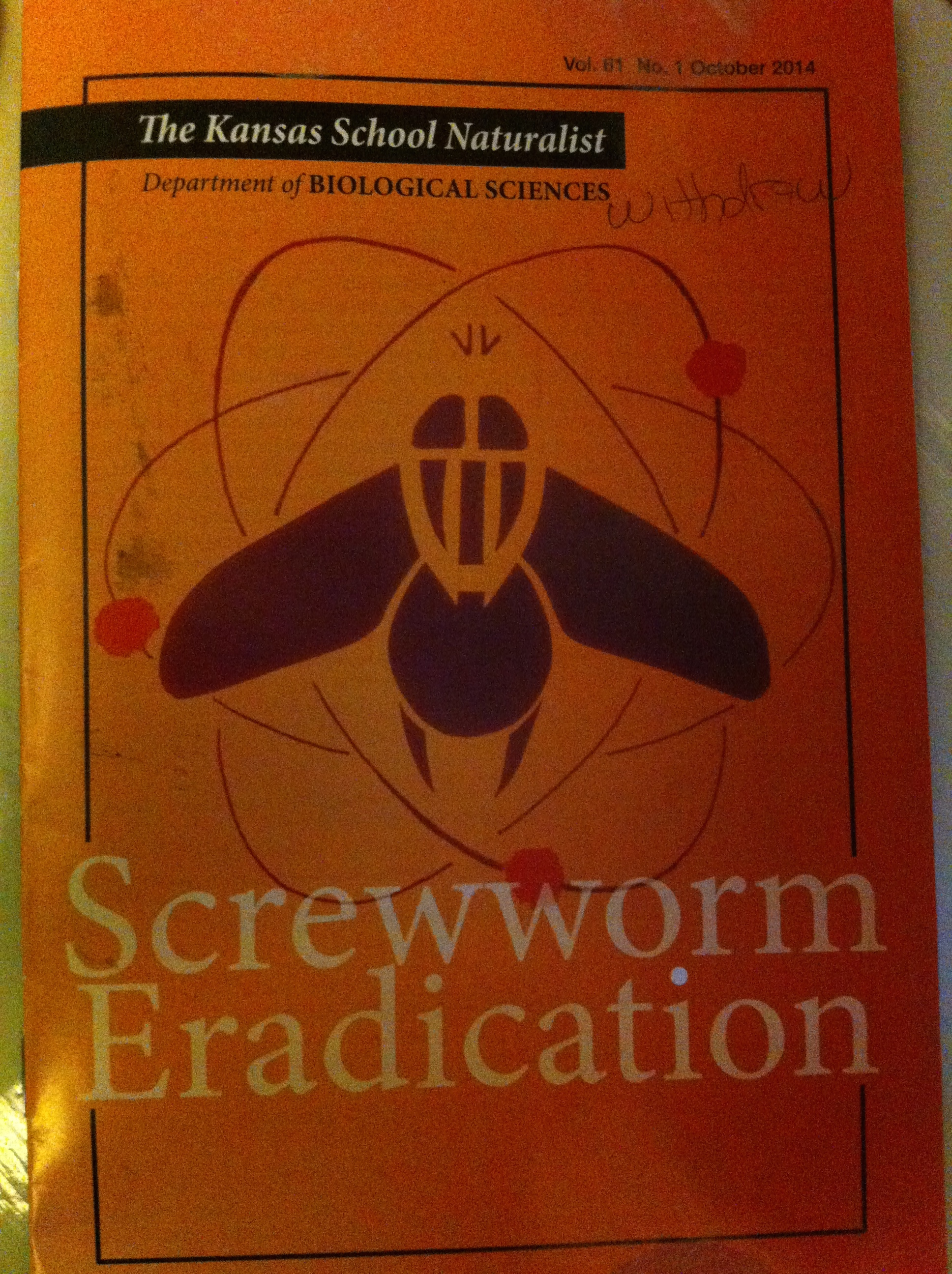 Lucky me got some free literature on screwworm eradication from a friendly Penn State librarian.
